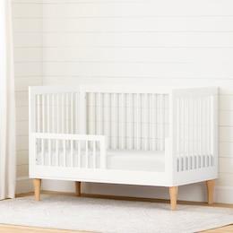 Balka Toddler Rail for Baby Crib, Pure White