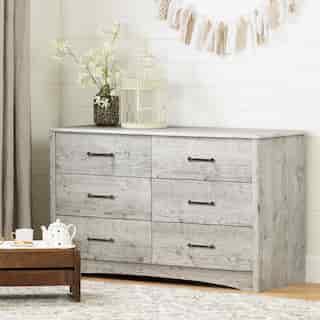 Helson 6-Drawer Double Dresser, Seaside Pine