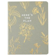 2020 Hardcover Agenda Here's the Plan Kraft Foil Design Planner