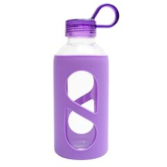 GLASS WATER BOTTLE – PURPLE