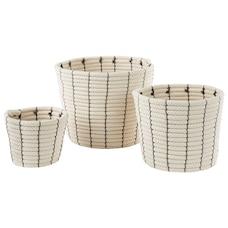 Branco White Baskets – Set of 3