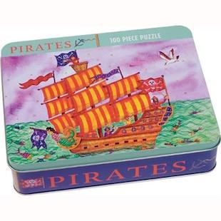 Mudpuppy Pirates 100 Piece Puzzle in a Tin