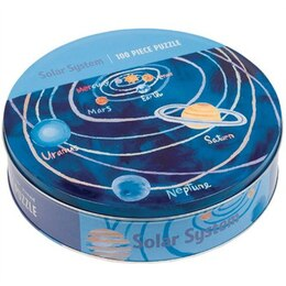 Mudpuppy Solar System 100 Piece Puzzle In A Tin