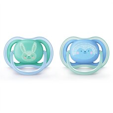 Philips AVENT Ultra Air Pacifier Contemporary 6-18 Months Blue/Green