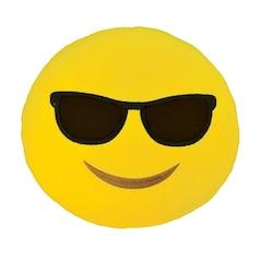Emoji Small Pillow - Sunglasses