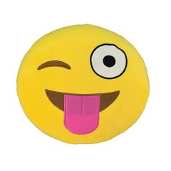 Emoji Small Pillow - Silly Wink