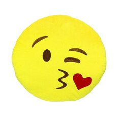 Emoji Large Pillow - Throwing a Kiss
