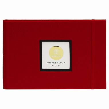 "KINSHO Pocket Photo Album, 4"" x 6"" - Red"