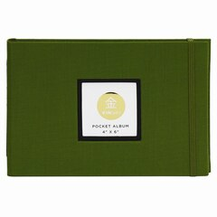 Journal photo de poche KINSHO – 4 x 6 po, vert mousse