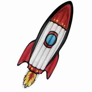 Incredible Novelties Ring Pool Float - Rocket Ship