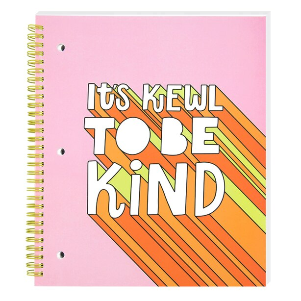 SPIRAL NOTEBOOK COLLEGE RULED - IT'S KEWL