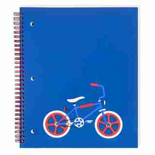 SPIRAL NOTEBOOK COLLEGE RULED - BIKE