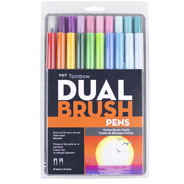 TOMBOW DUAL BRUSH PEN SET PERFECT BLENDS 20PK