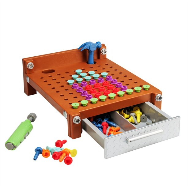 Educational Insights® Design & Drill® My First Workbench Brown
