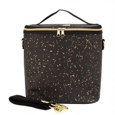 SOYOUNG POCHE LUNCH BAG BLACK GOLD SPLATTER PAPER