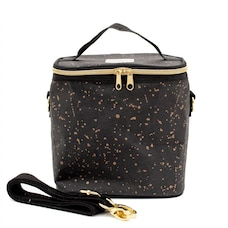 PETITE POCHE LUNCH BAG, BLACK GOLD SPLATTER
