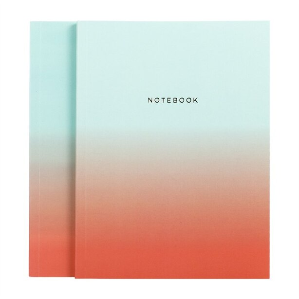 Hadron Epoch Gradient Set of 2 Notebooks, Blue & Orange