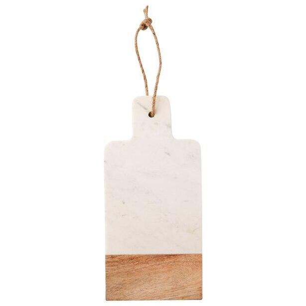 Petit plateau en marbre et en bois