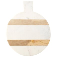 Round Marble & Wood Board – Large