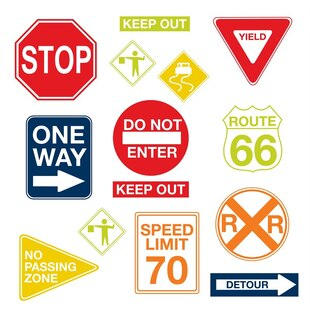 Large Wall Art Kits-Road Signs