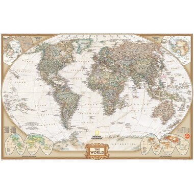Wall Map Decal on