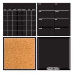 Black 4-Piece Organizer Kit