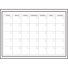 Calendrier mensuel blanc