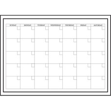 Whiteboard Monthly Calendar Decal