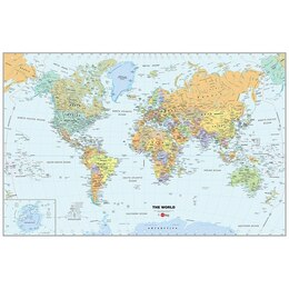 Dry Erase Map - World