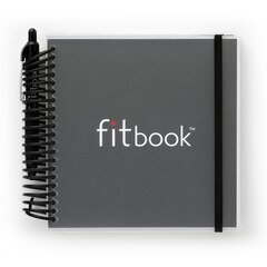 fitbook: 12-week fitness + nutrition journal - Black