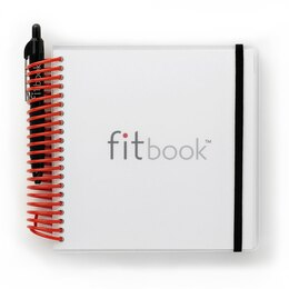 fitbook: 12-week fitness + nutrition journal - red