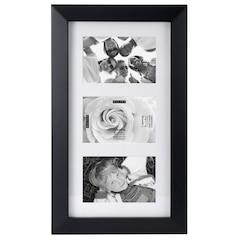 Gallery Frame - 3 Opening, Black