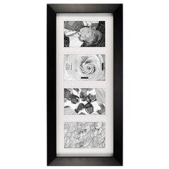 Gallery Frame - 4 Opening, Black