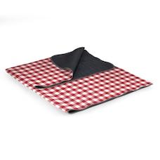 Blanket Tote XL Outdoor Picnic Blanket, (Motif vichy rouge et blanc)