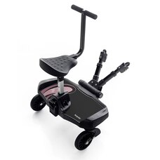 Bumprider Stroller Ride-On Board and Seat Attachment Pink