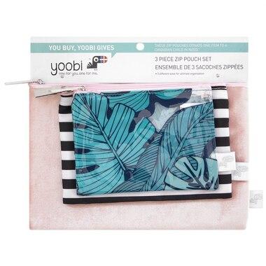 Yoobi 3 Piece Zip Pouch Set - Tropical