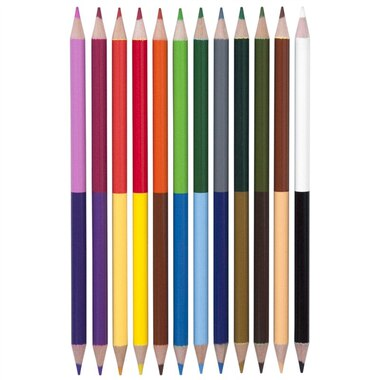 Yoobi 12 Pk Doubled Ended Coloured Pencils
