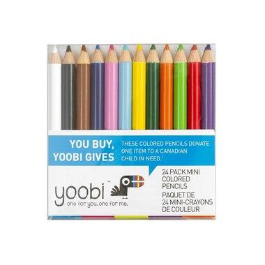 Yoobi™ Mini Pencil Crayons Set 1 Multicolour 24-Pack