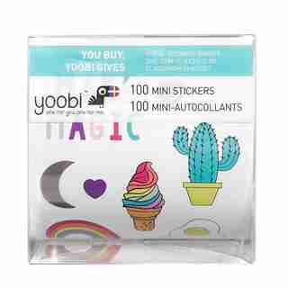 Yoobi Sticker Roll with Box - Heck Yes! Mini Llama 100 Plus-Pack