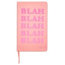 Yoobi™ Journal with Printed Paper Cover Blah Blah Blah Coral 80 Sheets 5.2'' x 8.5''
