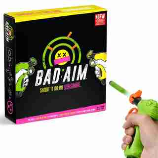 Bad Aim - Party Game - Shoot Cards To Avoid Doing Wild Truths & Dares (NSFW Version)