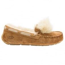 UGG® Dakota Pom Pom Slipper - Chestnut, Size 10