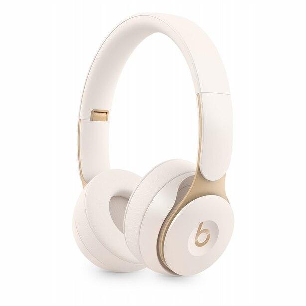 Casque d'écoute sans fil avec annulation du bruit Solo Pro Wireless de Beats - Ivoire