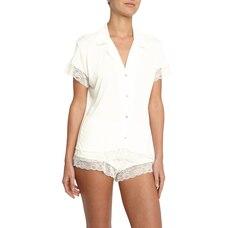 Malou Short Sleeve PJ Set, Ivory XL