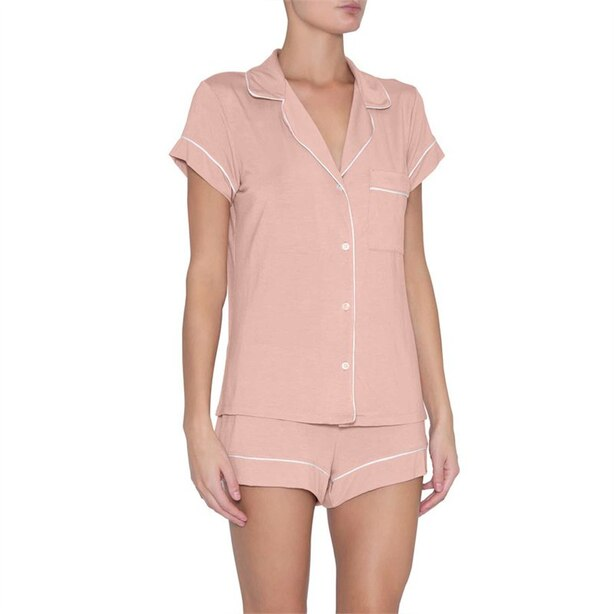 GISELE SHORT PJ SET BOXED MISTY ROSE IVORY S
