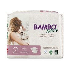 Bambo Nature Eco-Friendly Diapers - Size 2 - 30 Pack