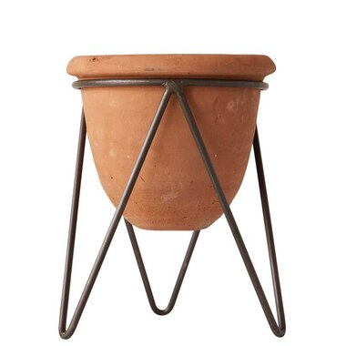 TERRACOTTA PLANTER WITH STAND - SET OF 2