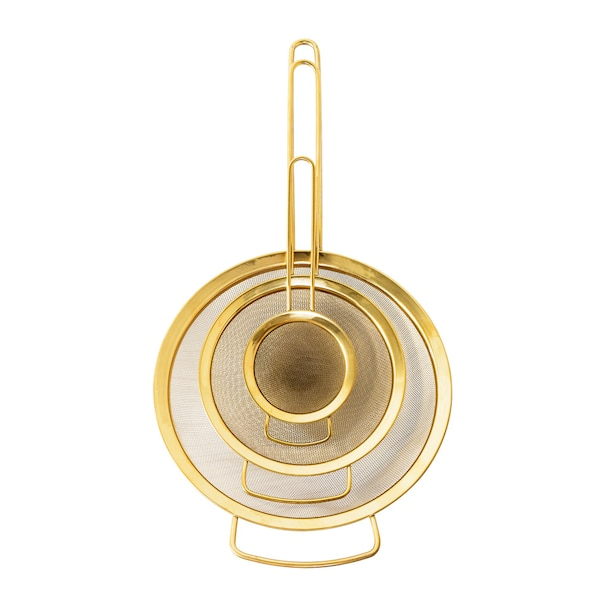 GOLD SIEVES SET OF 3