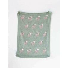 Creative Co-op Cotton KnitBlanket  - Deer Green