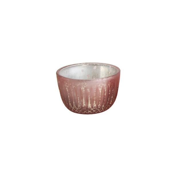 MERCURY GLASS TEALIGHT HOLDER PINK